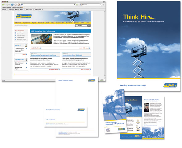 Intranet, extranet and literature design for the UK's leading tool hire company
